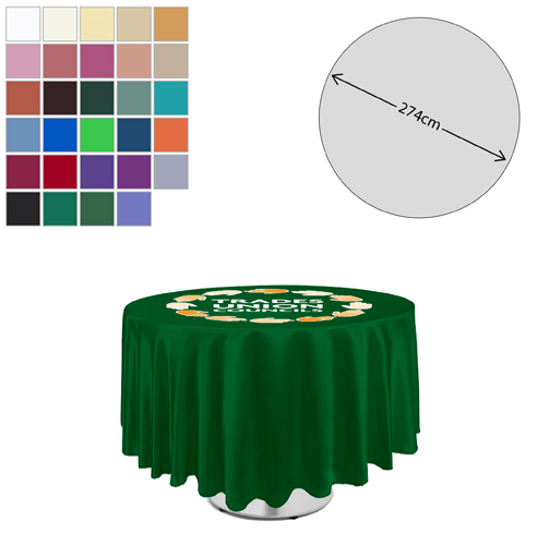 Linen Round Tablecloth (275cm Diameter)