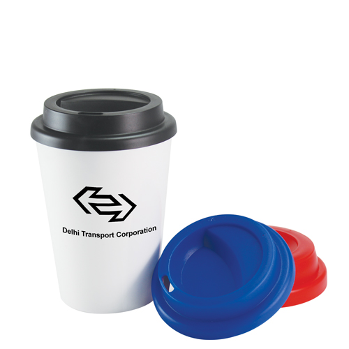 12oz Reusable Plastic Takeaway Coffee Cup