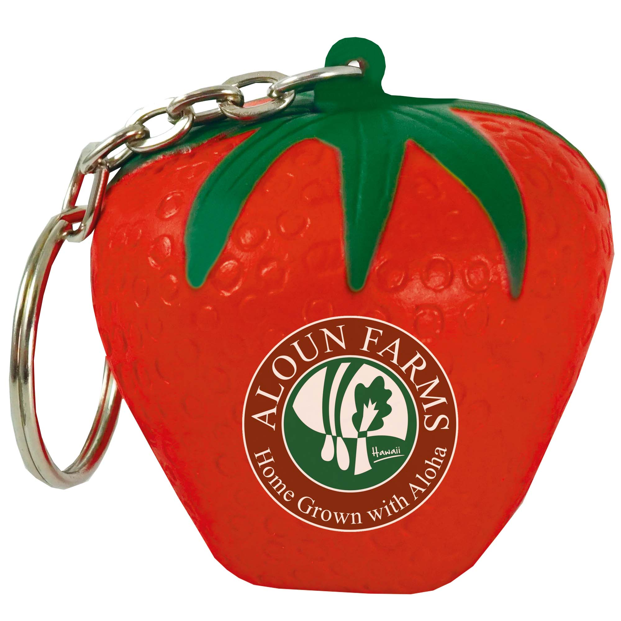 Stress Strawberry Keyring