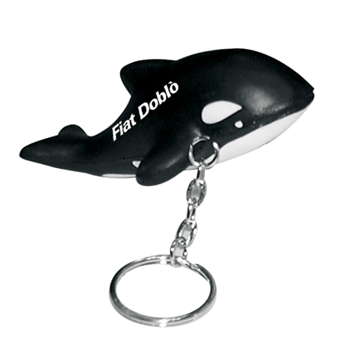 Stress Killer Whale Keyring