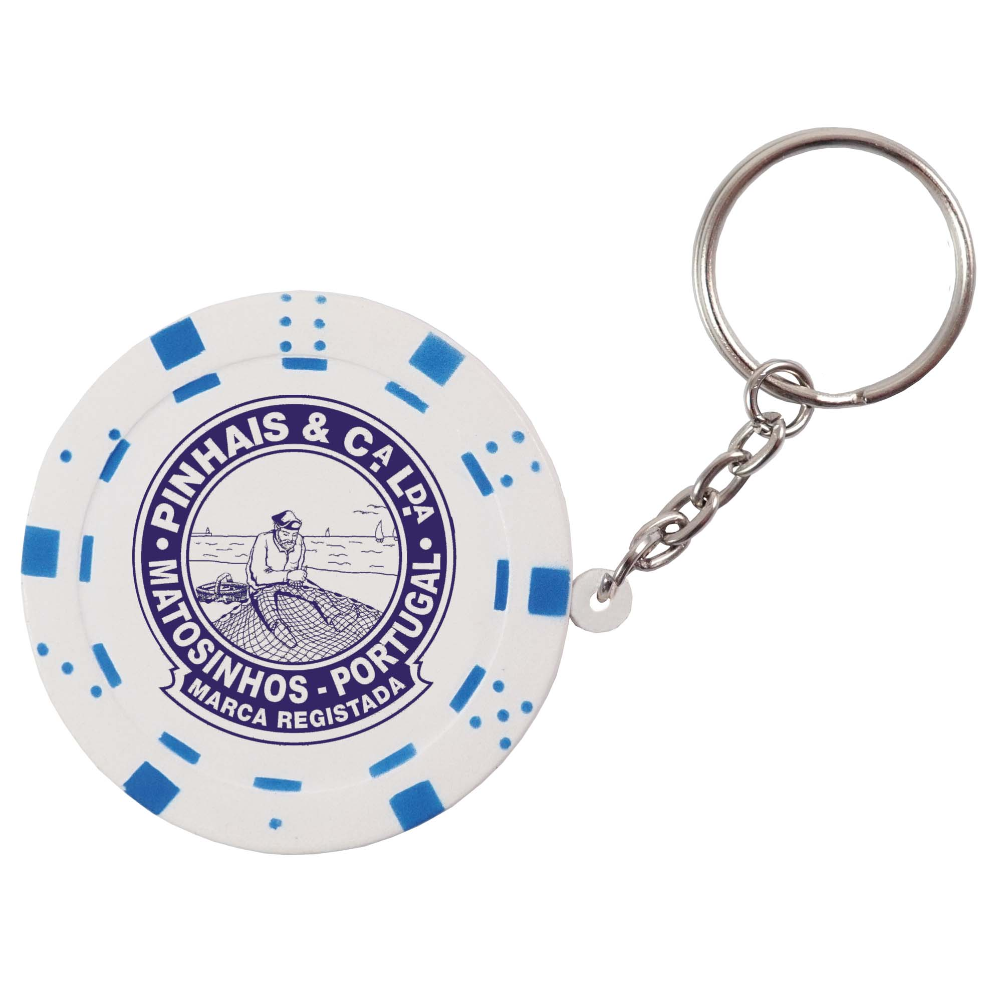 Stress Poker Chip Keyring