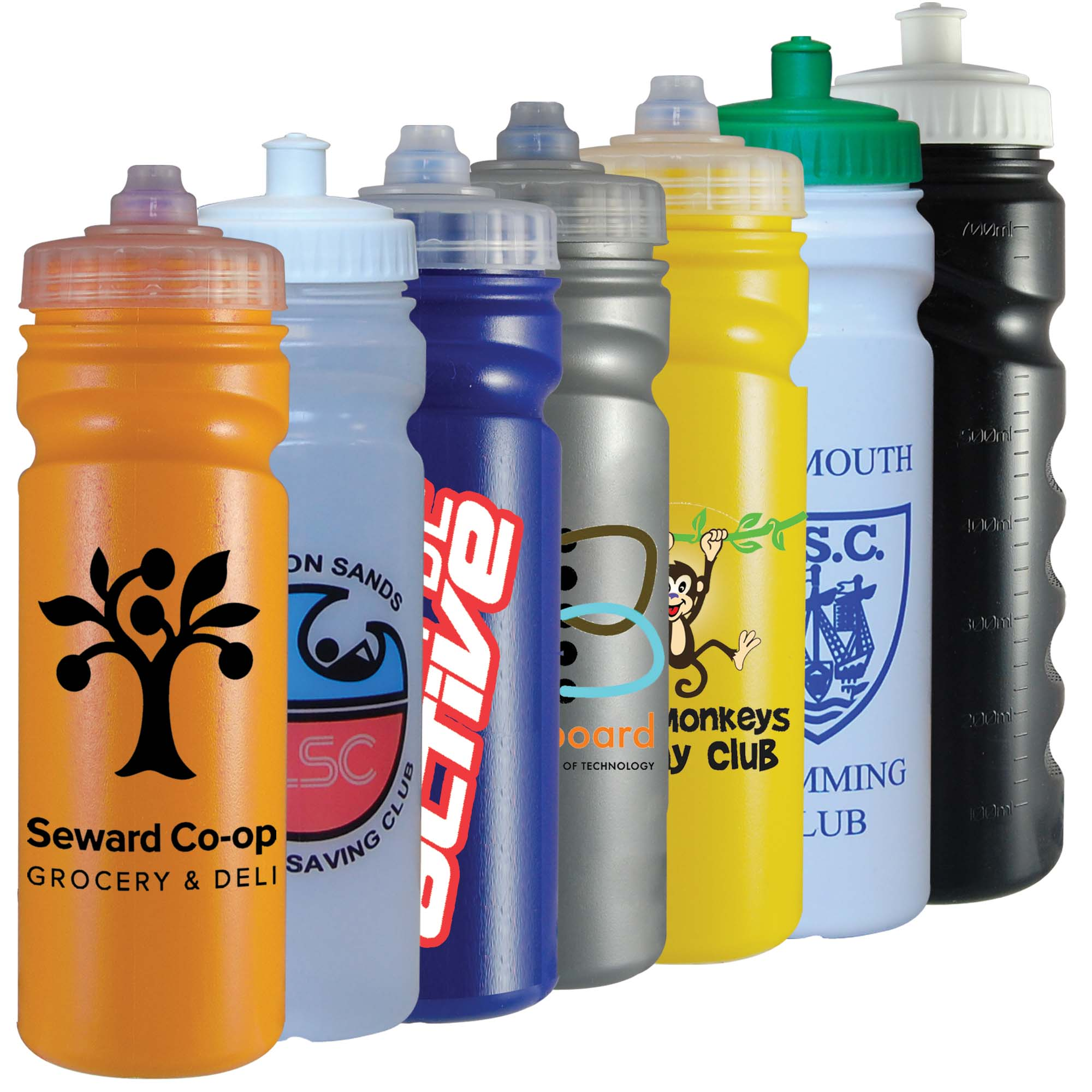 Sports Drinking Bottle 750ml (finger grip)
