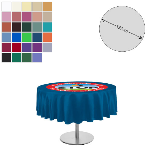 Linen Round Tablecloth (138cm Diameter)