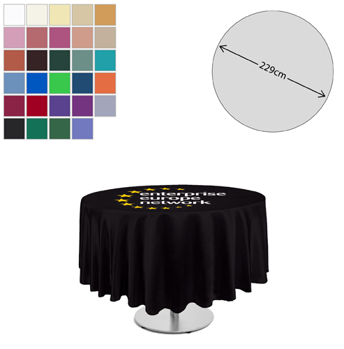 Linen Round Tablecloth (229cm Diameter)