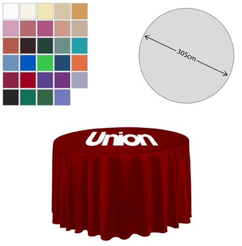 Fabric Round Tablecloth (305cm Diameter)