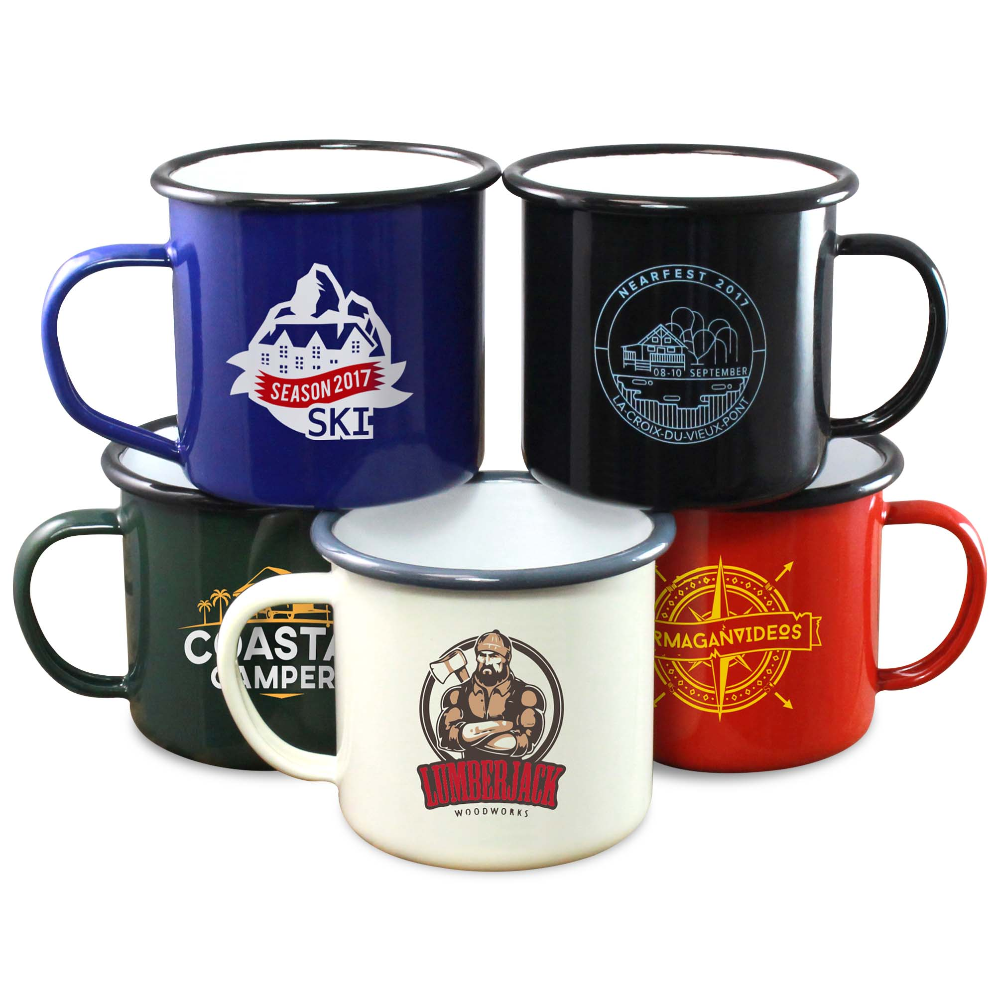 Premium Enamel Mugs 10oz/285ml (Coloured)