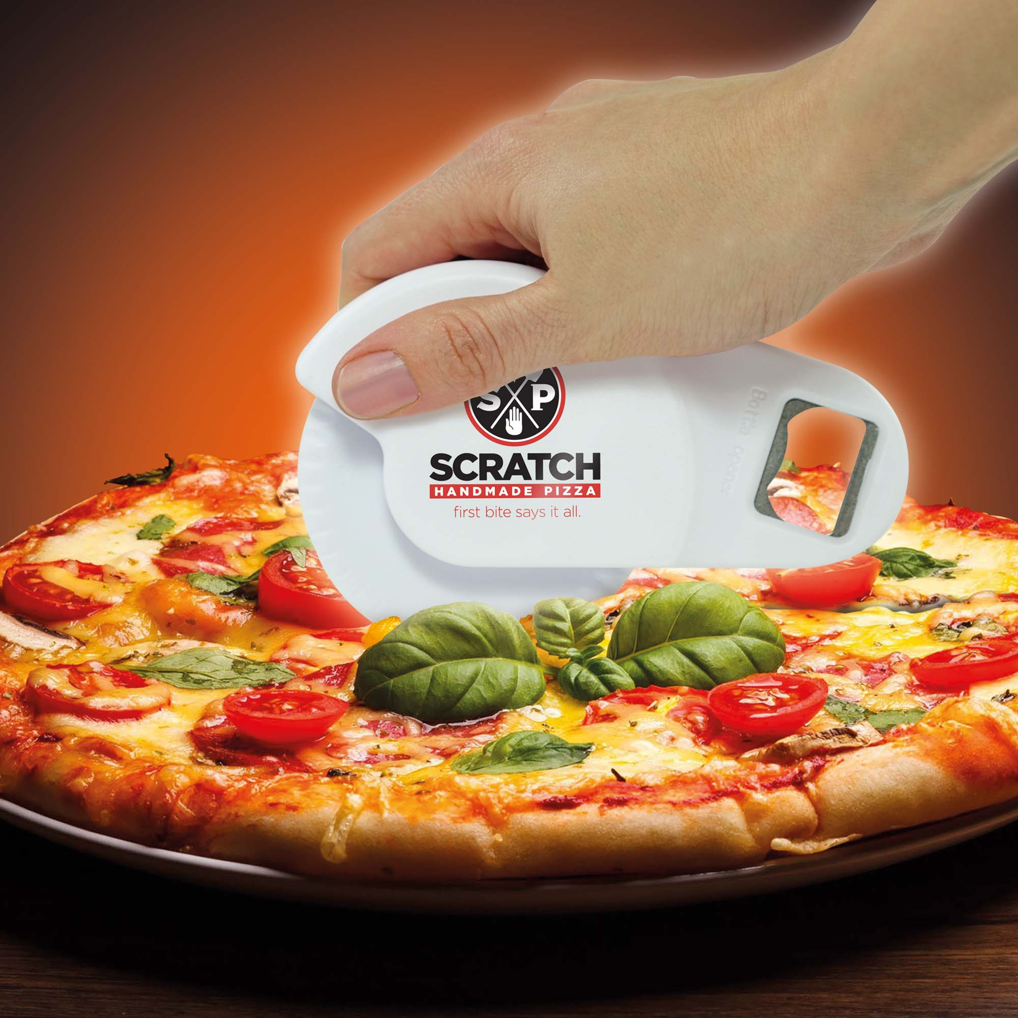 Pizza Cutter & Bottle Opener Combo