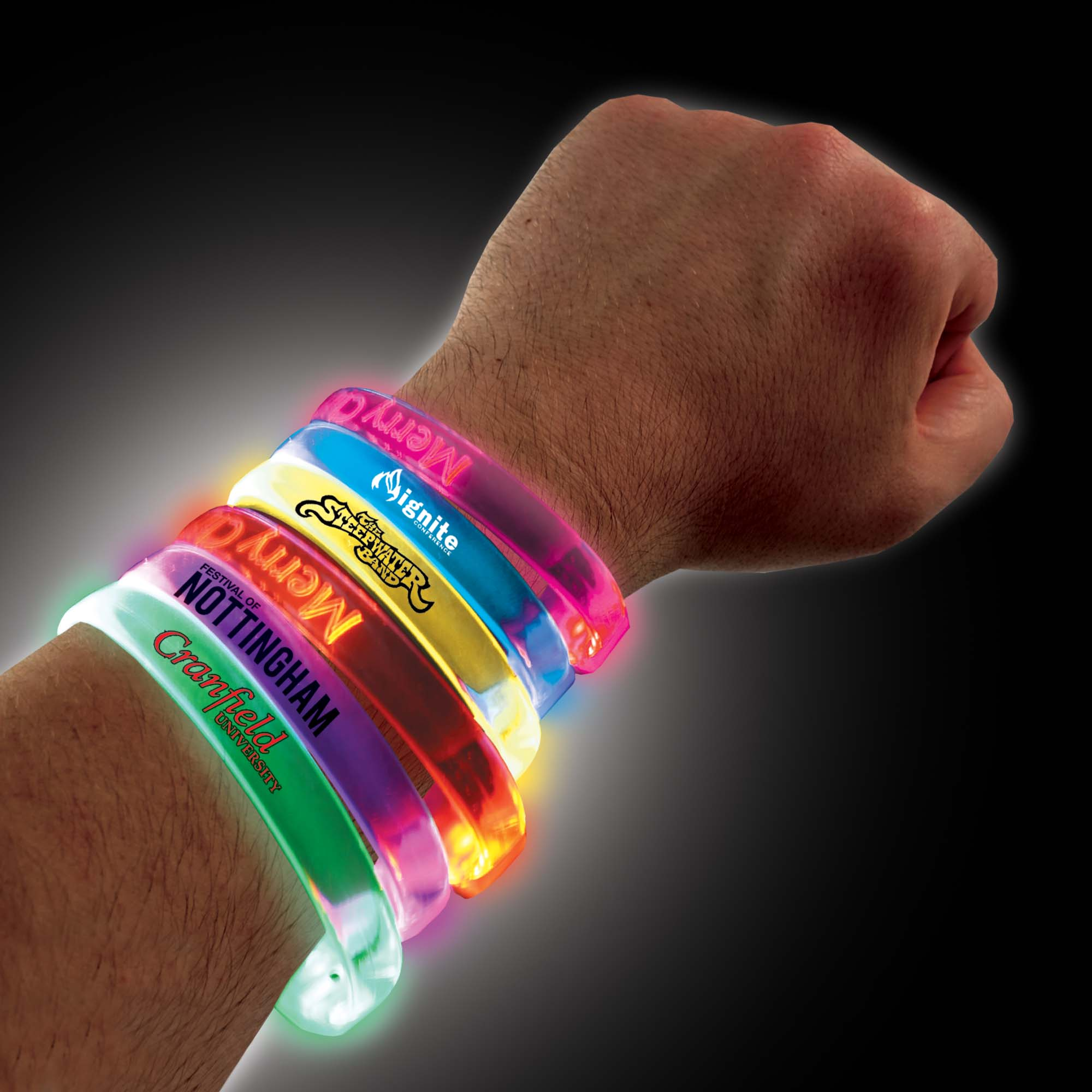 Reactive LED Flashing Wristband