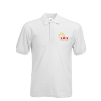 Custom Printed Polo Shirt (White)