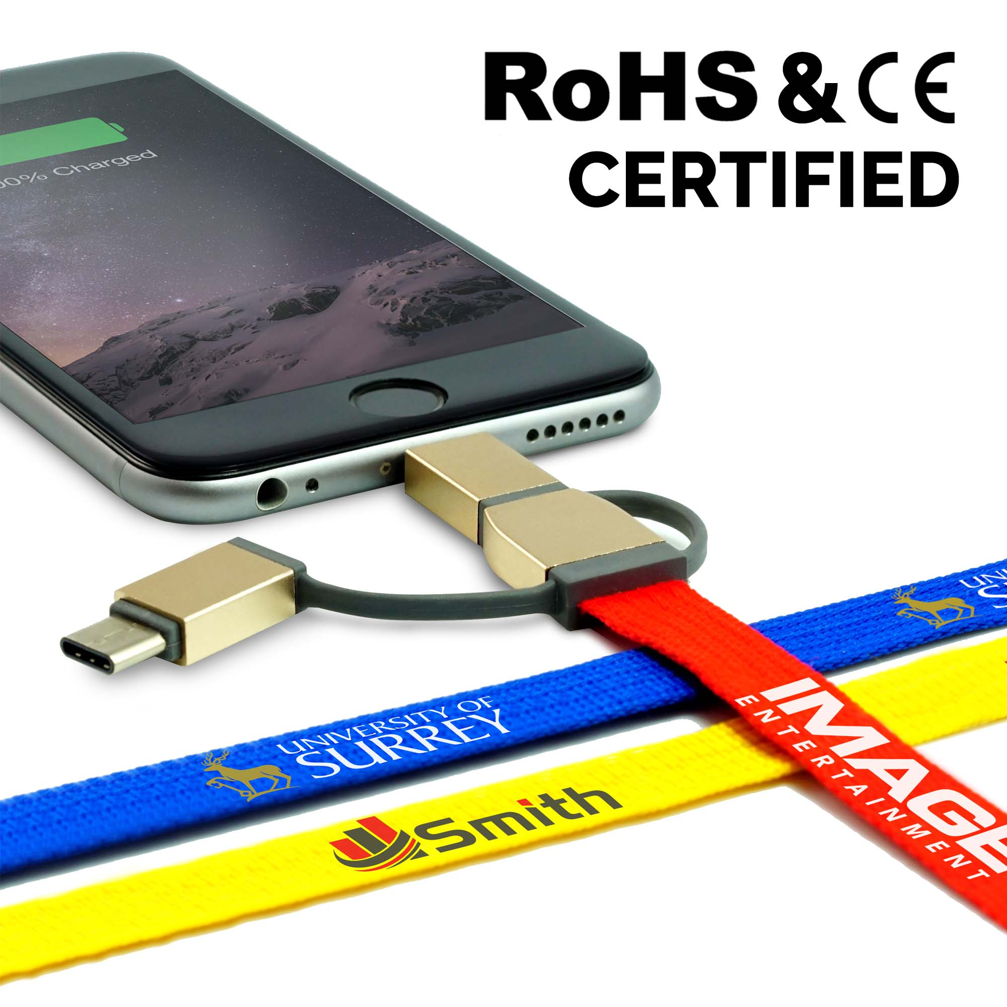 Promo Fabric USB Charging And Data Cable