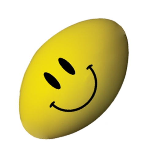 Smiley Stress Rugby Ball