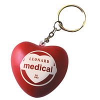 Stress Love Heart Keyring