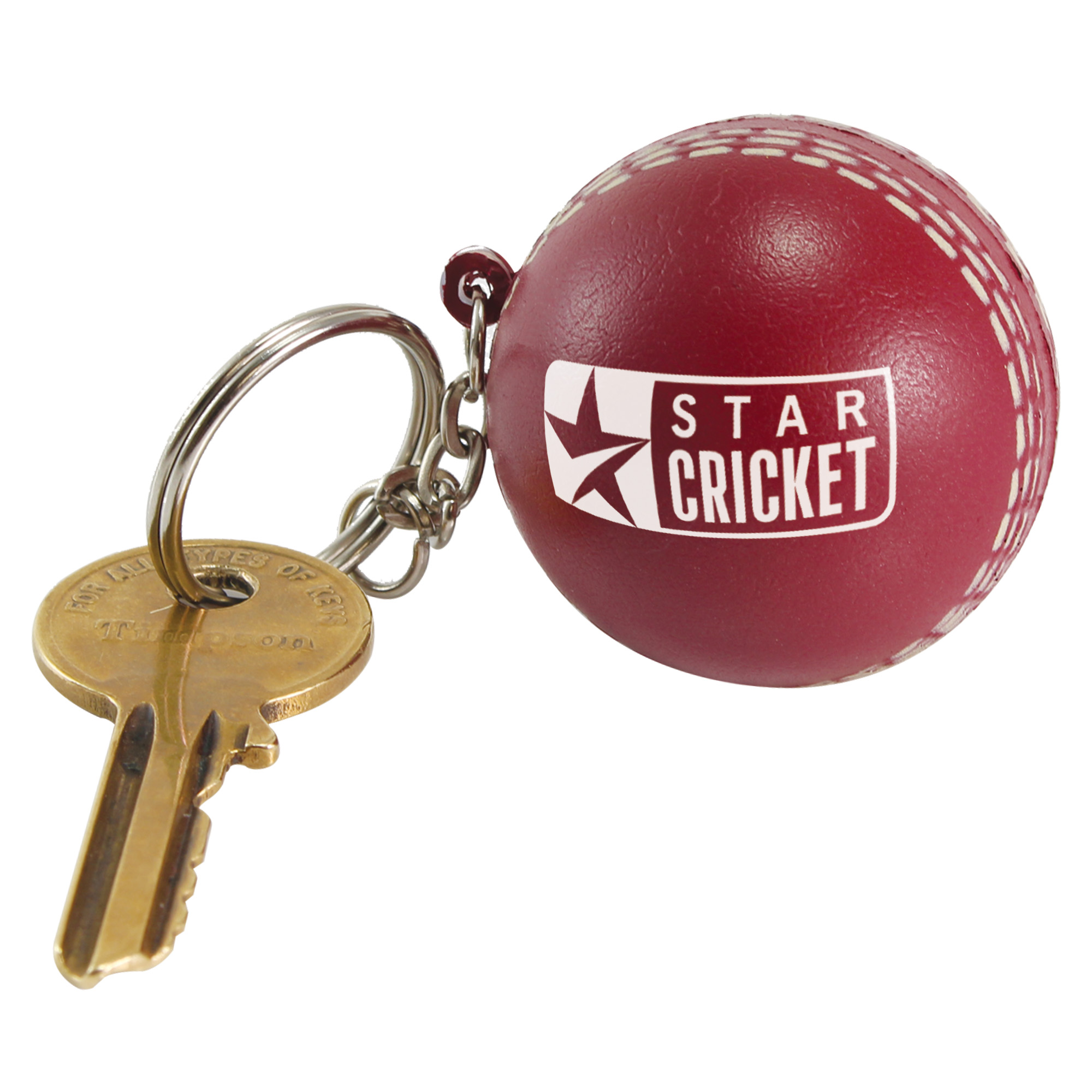 Stress Cricket Ball Keyring